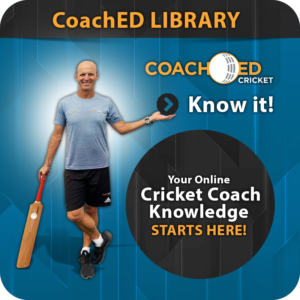 CoachED Library Cricket Coaching Package