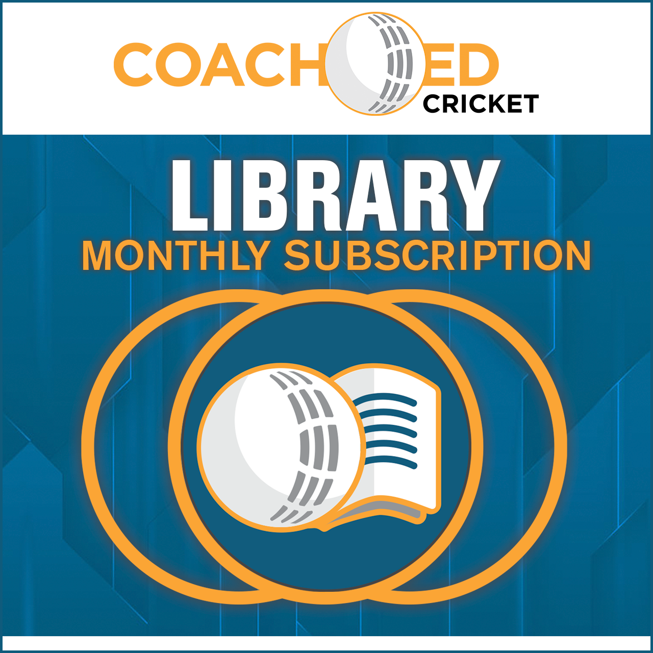 CoachED Cricket Monthly Membership Library