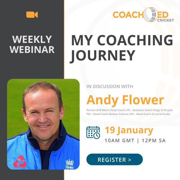 CoachED Cricket Webinar with Andy Flower